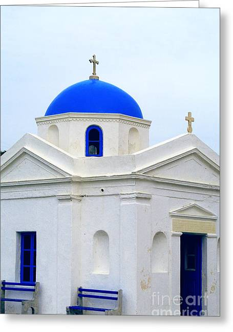Greek Orthodox Church Greeting Card by Sarah Christian