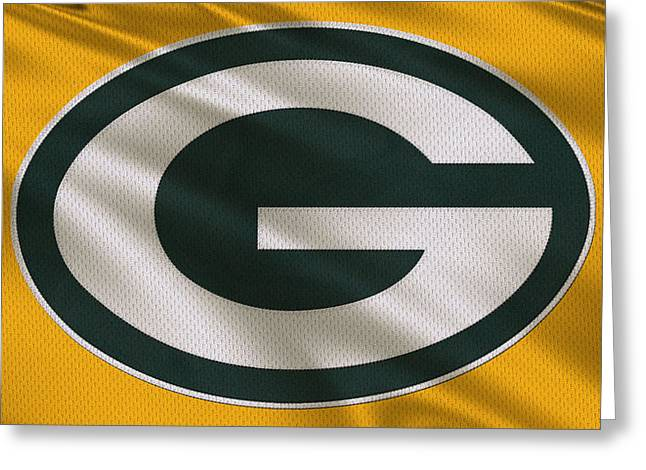 Packers. Greeting Cards - Green Bay Packers Uniform Greeting Card by Joe Hamilton