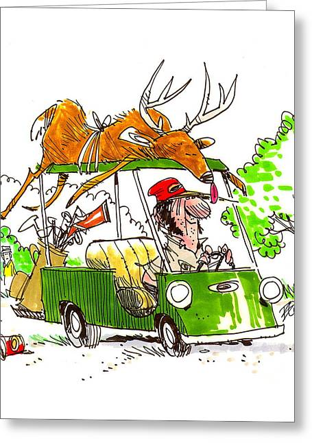 Jeff Foxworthy Greeting Cards - Green Fee Hunting Privileges Greeting Card by David Boyd