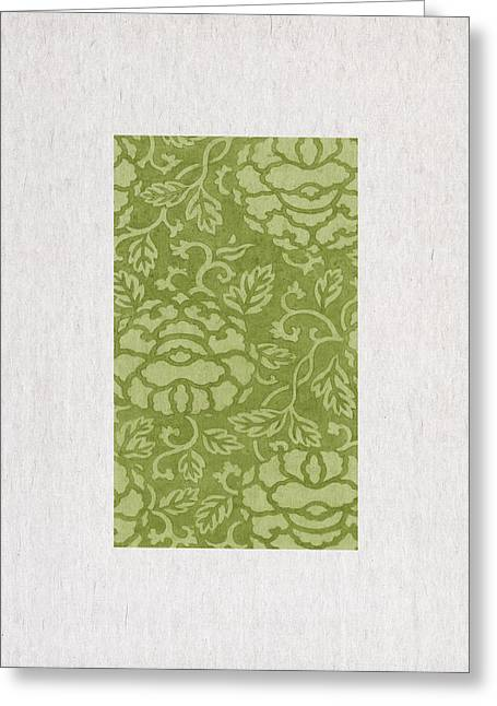 Art Decor Greeting Cards - Green Flowers Greeting Card by Aged Pixel