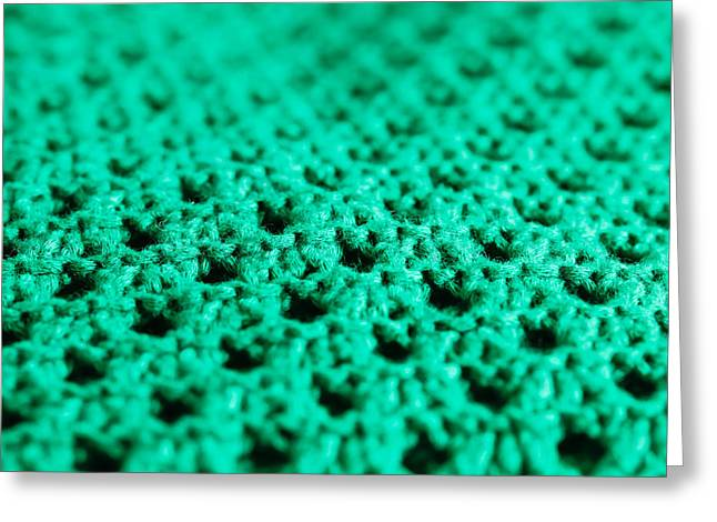 Green Wool Greeting Card by Tom Gowanlock