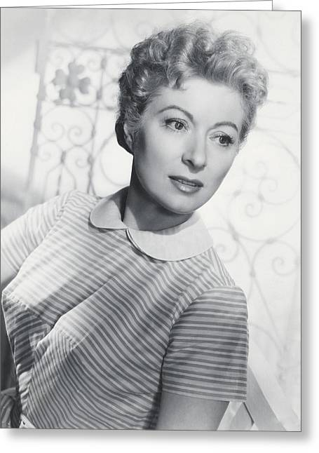 Garson Greeting Cards - Greer Garson Greeting Card by Silver Screen