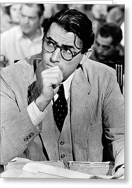 Gregory Peck In To Kill A Mockingbird  Greeting Card by Silver Screen
