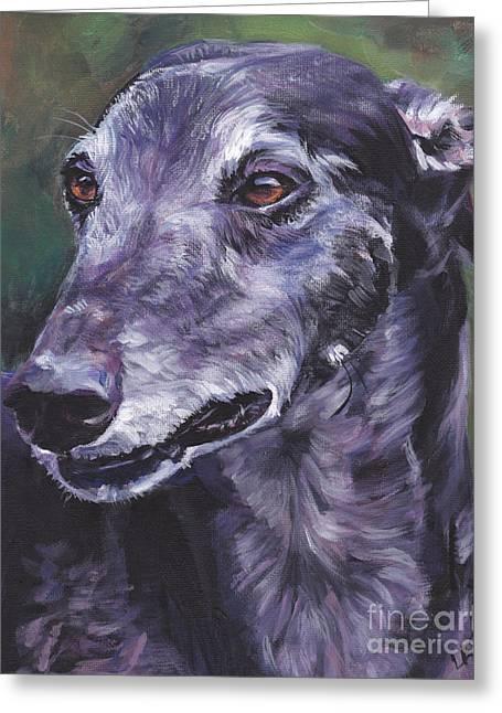 Greyhound Dog Greeting Cards - Greyhound Greeting Card by Lee Ann Shepard