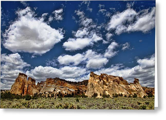Southern Utah Greeting Cards - Grosvenor Arch Greeting Card by Mark Smith