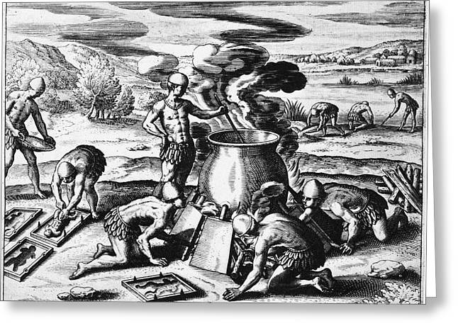 Guiana Gold Casting, 1599 Greeting Card by Granger