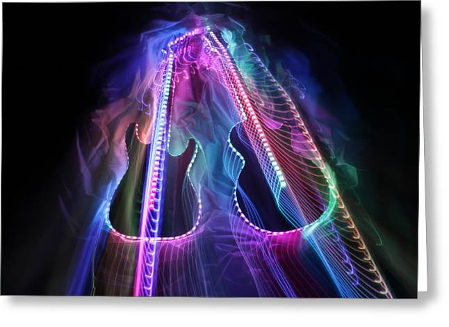 Musical Imagery Greeting Cards - 2 Guitars 6 Greeting Card by Patrick Daniel Trombly