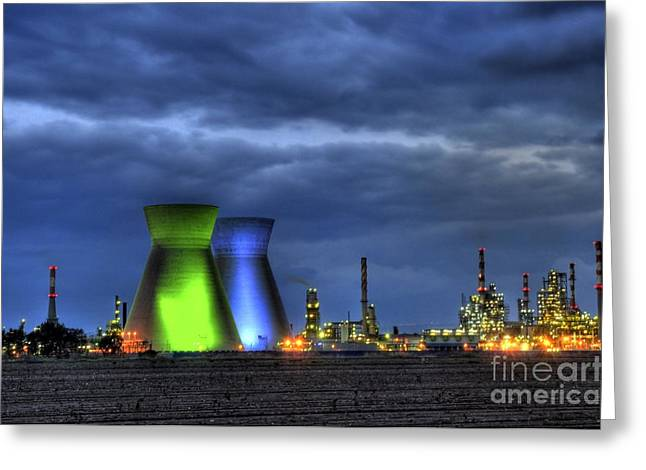 Petrochemical Greeting Cards - Haifa Petrochemical Plant Greeting Card by PhotoStock-Israel