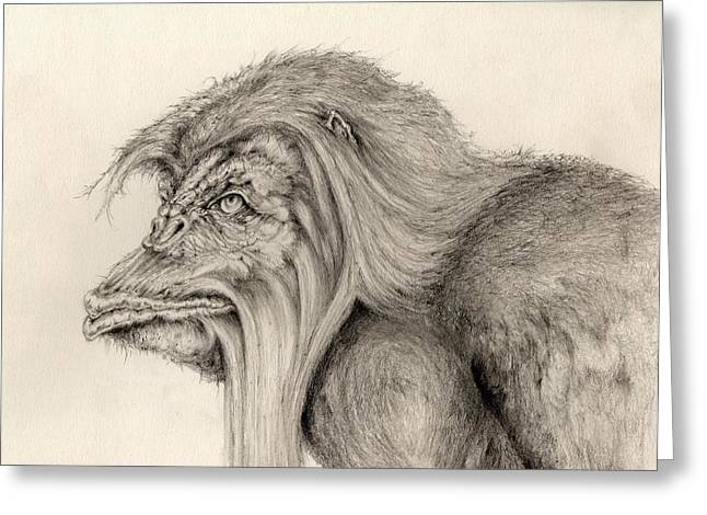 Hairy Drawings Greeting Cards - Hairy Greeting Card by Rudy Cepeda