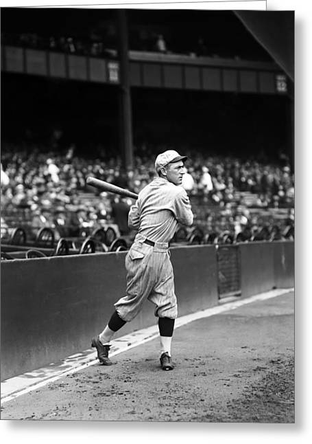 Baseball Bat Greeting Cards - Hal Rhyne Greeting Card by Retro Images Archive