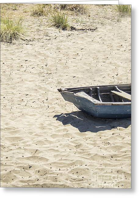 Row Boat Greeting Cards - Half Greeting Card by Margie Hurwich