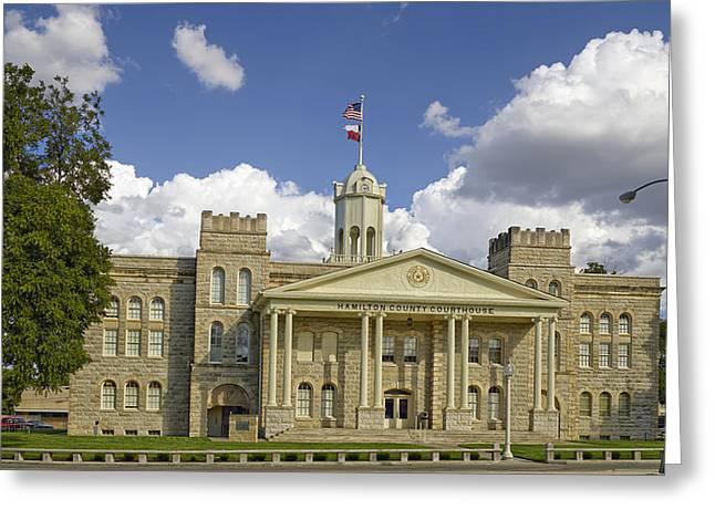 Hamilton Texas Greeting Cards - Hamilton County Courthouse Texas Greeting Card by Mountain Dreams
