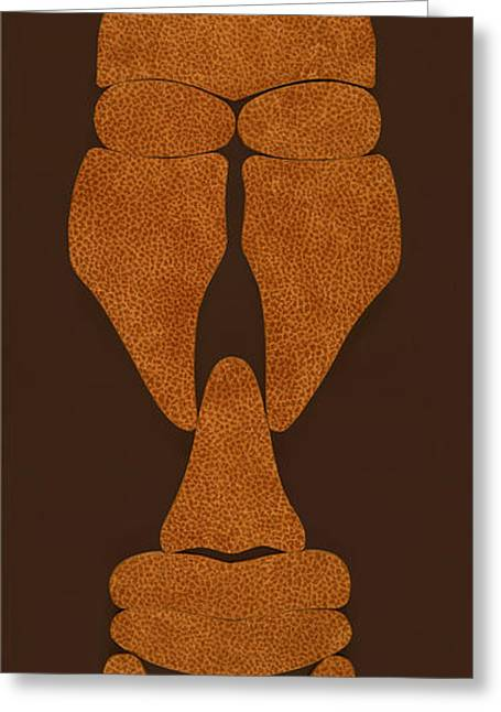 Creative People Pyrography Greeting Cards - Hamite Male Greeting Card by Jerry Ruffin