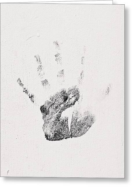 Creative People Greeting Cards - Handprint Greeting Card by Tom Gowanlock