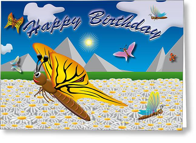 Party Invite Greeting Cards - Happy Birthday Greeting Card by Fabian Roessler