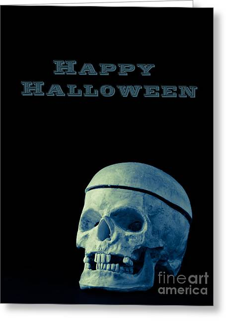 Skulls Photographs Greeting Cards - Happy Halloween Greeting Card by Edward Fielding