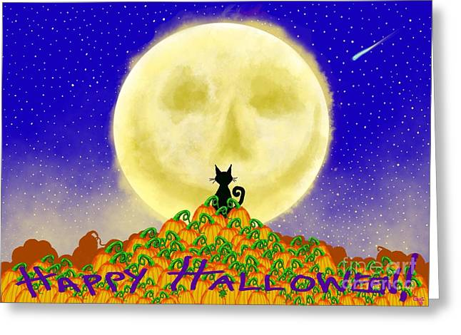 Patch Greeting Cards - Happy Halloween Greeting Card by Nick Gustafson