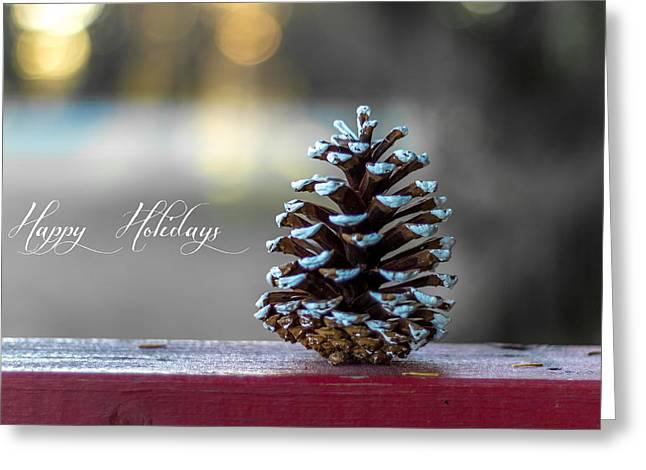 Christmas Greeting Cards - Happy Holidays Greeting Card by Aldona Pivoriene