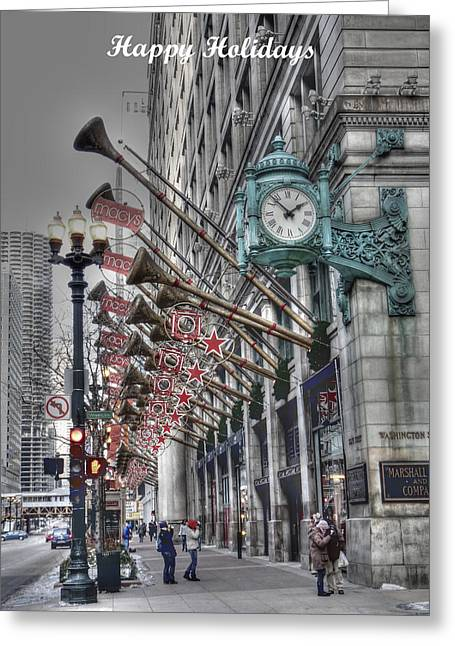 Department Stores Greeting Cards - Happy Holidays Greeting Card by David Bearden
