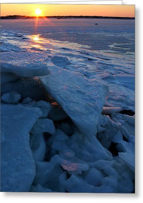 York Beach Greeting Cards - Harbor Port Jefferson New York Greeting Card by Bob Savage