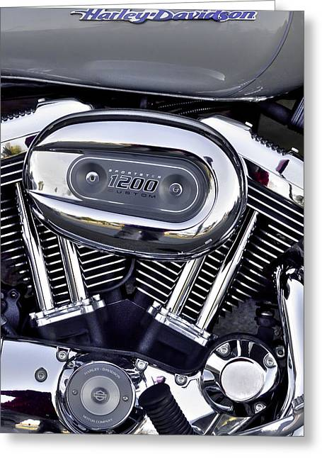 Handle Bar Greeting Cards - Harley Davidson Sportster 1200 Greeting Card by David Patterson