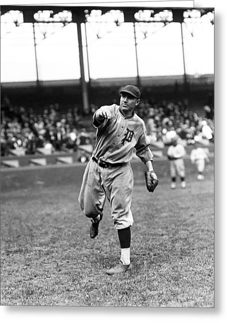 Baseball Game Greeting Cards - Harold J. Pie Traynor Greeting Card by Retro Images Archive