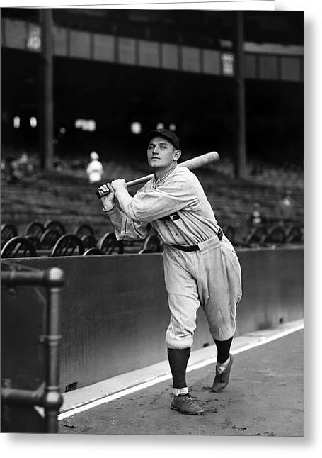 Baseball Game Greeting Cards - Harry Rice Greeting Card by Retro Images Archive