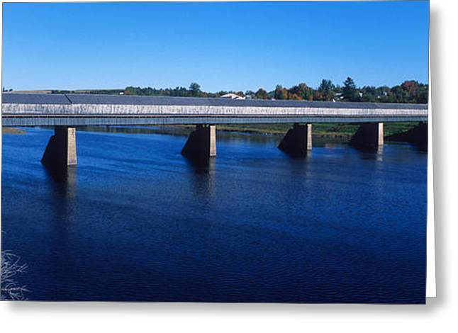 Covered Bridge Greeting Cards - Hartland Bridge, Worlds Longest Covered Greeting Card by Panoramic Images
