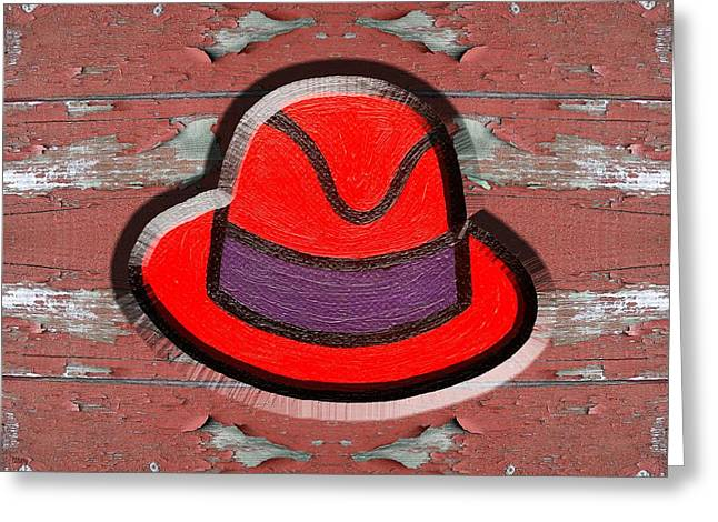 Big Red Hat Greeting Card by Patrick J Murphy