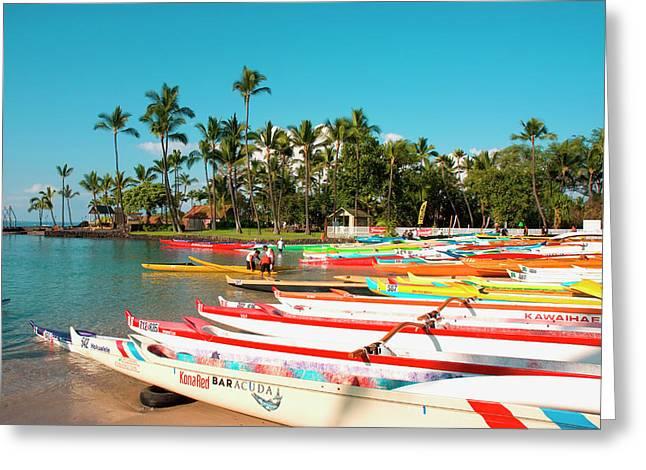 Hawaii, Big Island, Kona-kailua Greeting Card by Inger Hogstrom