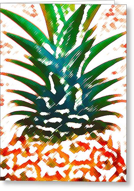 Food Digital Greeting Cards - Hawaiian Pineapple Greeting Card by James Temple