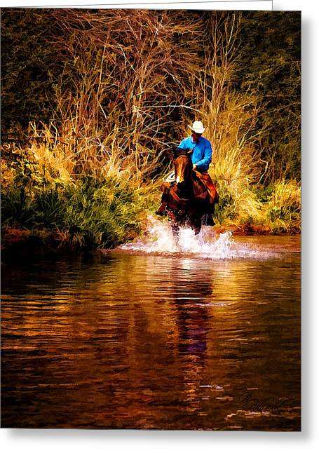 Western Western Art Greeting Cards - Heading Home Greeting Card by Robert Albrecht