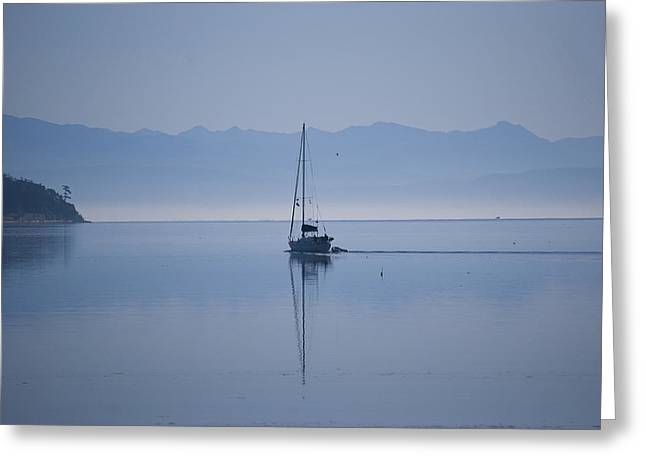 Framed Whidbey Prints Greeting Cards - Heading Out Greeting Card by Ron Roberts