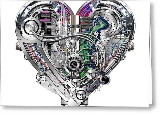 Components Mixed Media Greeting Cards - Heart Greeting Card by Diuno Ashlee
