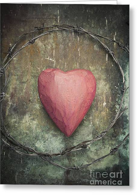 Divorce Greeting Cards - Heart Greeting Card by Maria Heyens