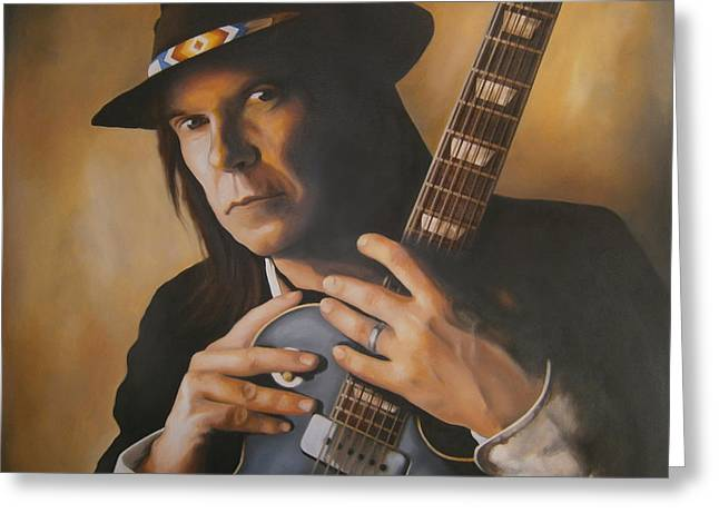 Neil Young Greeting Cards - Heart of Gold Greeting Card by Michael Payne