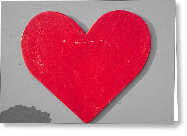 Blank Photo Greeting Cards - Heart shape Greeting Card by Tom Gowanlock