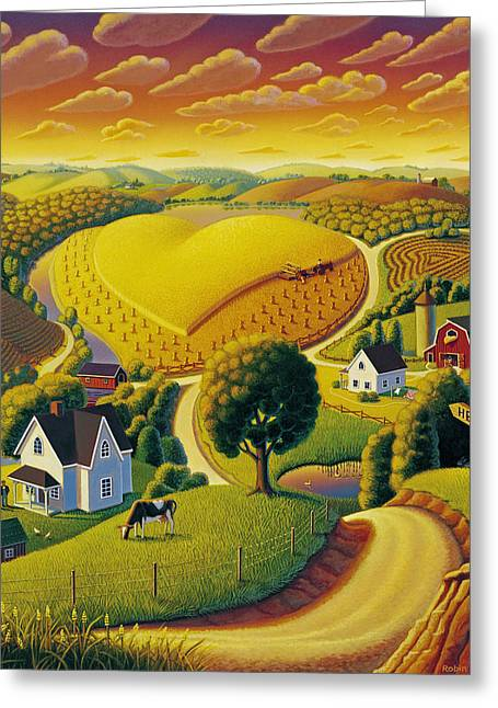 Rolling Hills Greeting Cards - Heartland  Greeting Card by Robin Moline
