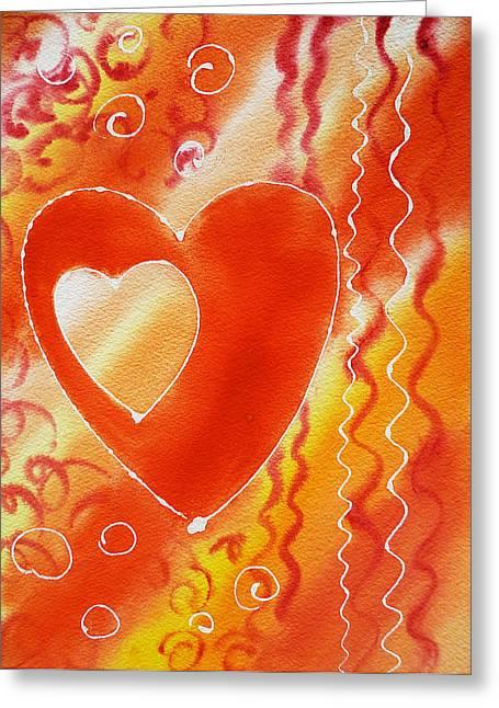 Valentine Greeting Cards - Hearts For Valentine Greeting Card by Irina Sztukowski