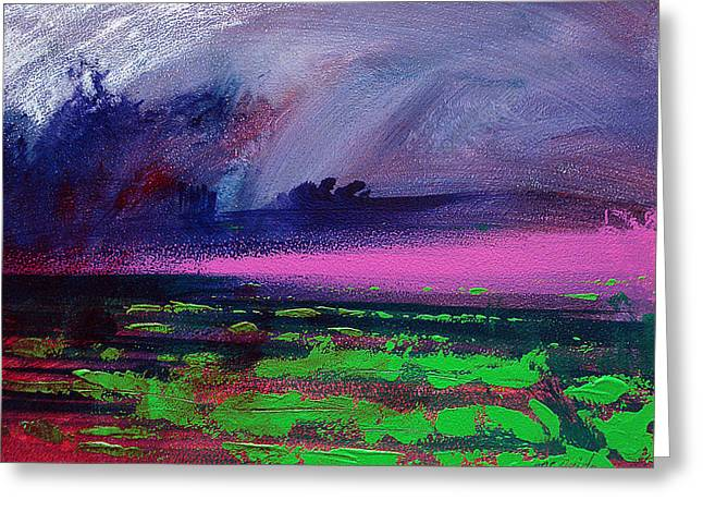Fields Greeting Cards - Heather Weather Greeting Card by Neil McBride