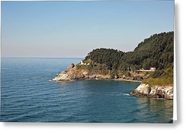 Cliffs And Houses Greeting Cards - Heceta Head Lighthouse Greeting Card by Scott Pellegrin