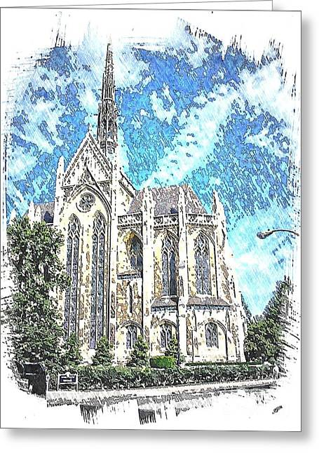 Chapel Mixed Media Greeting Cards - Heinz Chapel Greeting Card by Spencer McKain