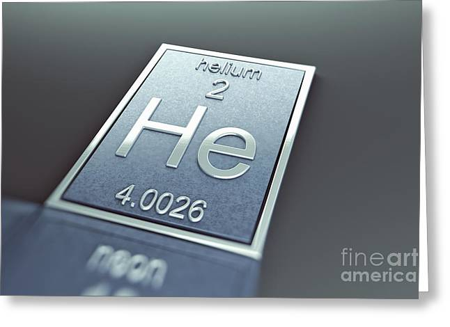Helium Greeting Cards - Helium Chemical Element Greeting Card by Science Picture Co
