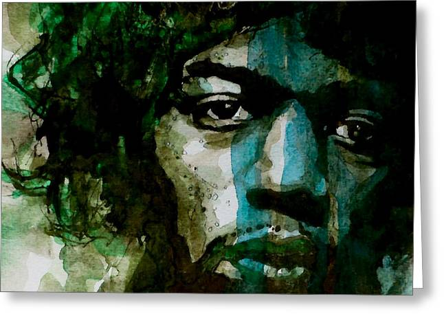 Jimi Hendrix Paintings Greeting Cards - Hendrix Greeting Card by Paul Lovering