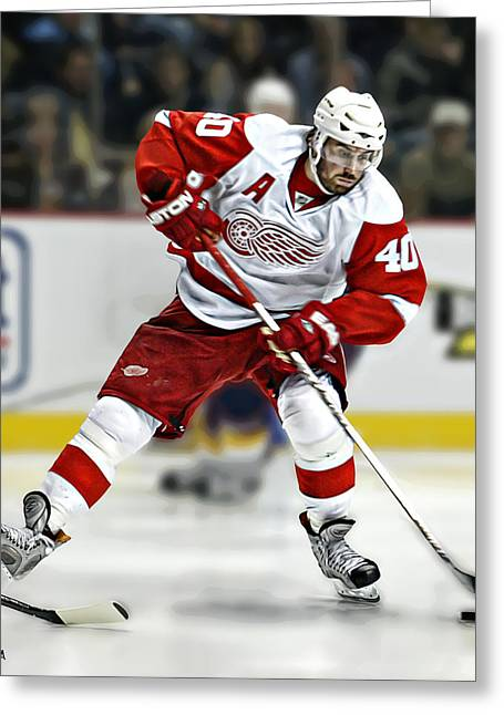 Ccm Greeting Cards - Henrik Zetterberg Greeting Card by Don Olea