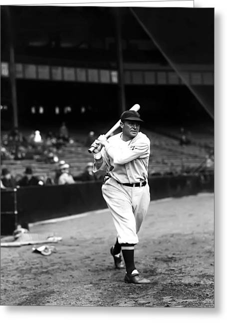 Mlb All Stars Greeting Cards - Henry E. Heinie Manush Greeting Card by Retro Images Archive