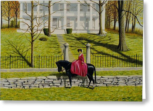 Her Favorite Horse Greeting Card by Stacy C Bottoms