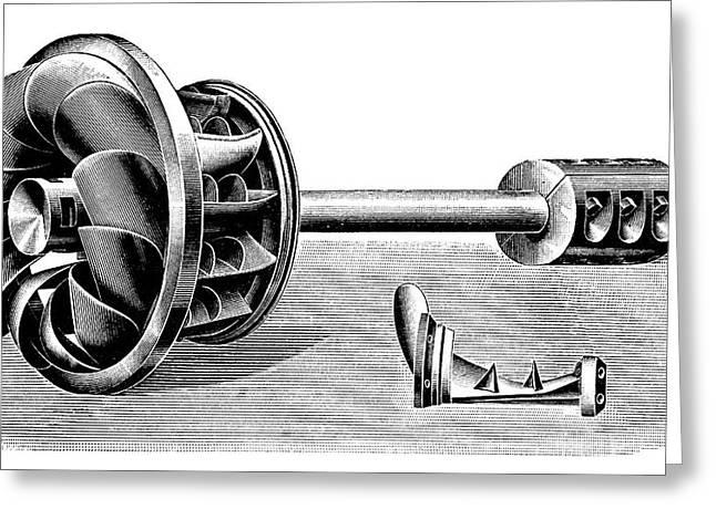 Hercule-progres Turbine Greeting Card by Science Photo Library