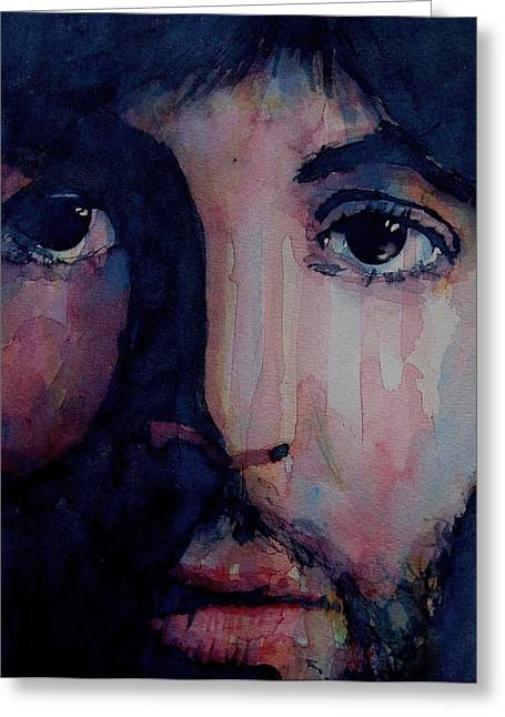 The Beatles Images Greeting Cards - Hey Jude Greeting Card by Paul Lovering