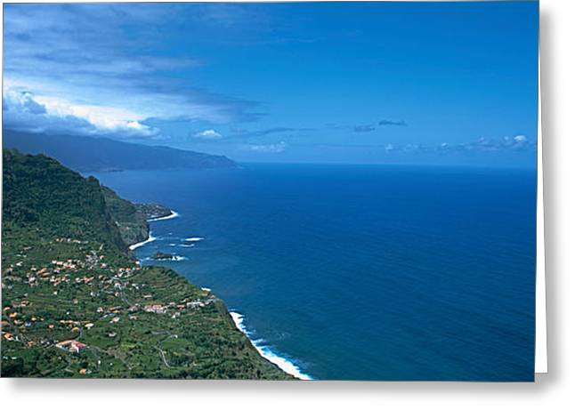 Sao Greeting Cards - High Angle View Of A Coastline Greeting Card by Panoramic Images